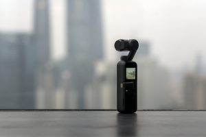 DJI OSMO CHINA, SHANGHAI - FEBRUARY 2, 2019. POCKET Is Filming The Whole Day Timelapse Of The Bund In Shanghai. Steadicam Is Shooting Hyper-lapse.